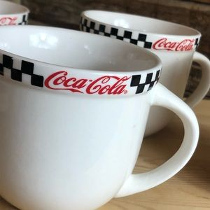 Set/4 COCA-COLA retro 50s diner style mugs